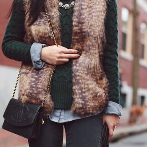 Brown Faux Fur Vest